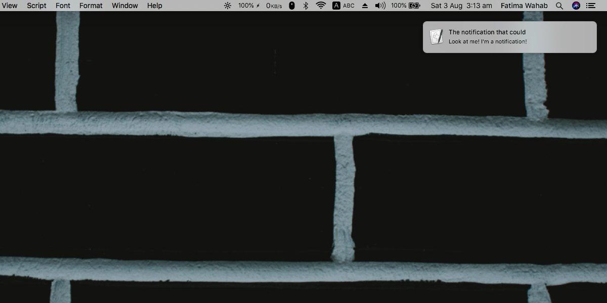 MacOS'ta bir komut dosyasıyla bir bildirim nasıl gösterilir 2