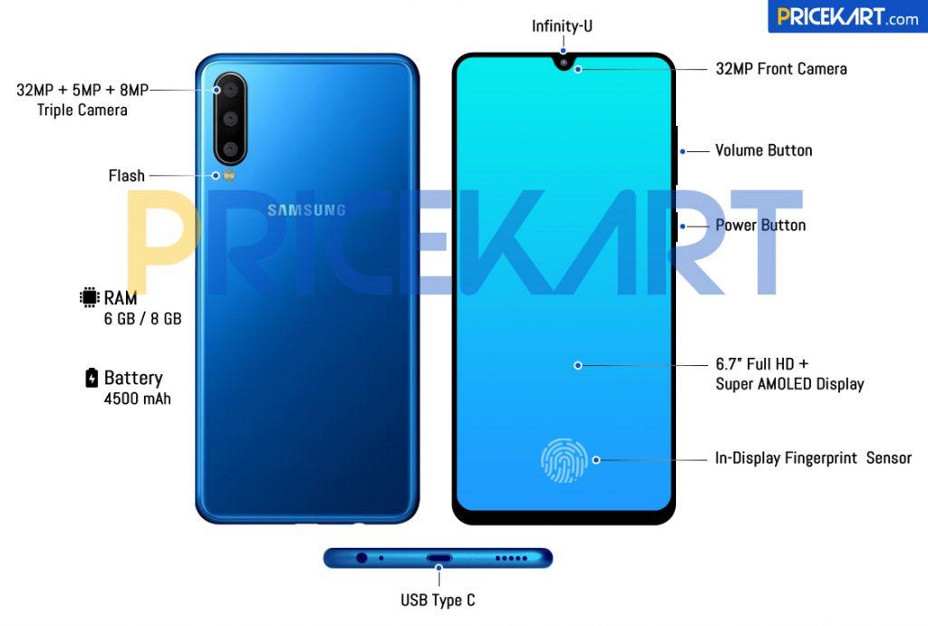 Samsung Galaxy A60 şimdi ayrıntılarını gösteren bir oluşturma işleminde görünüyor 2