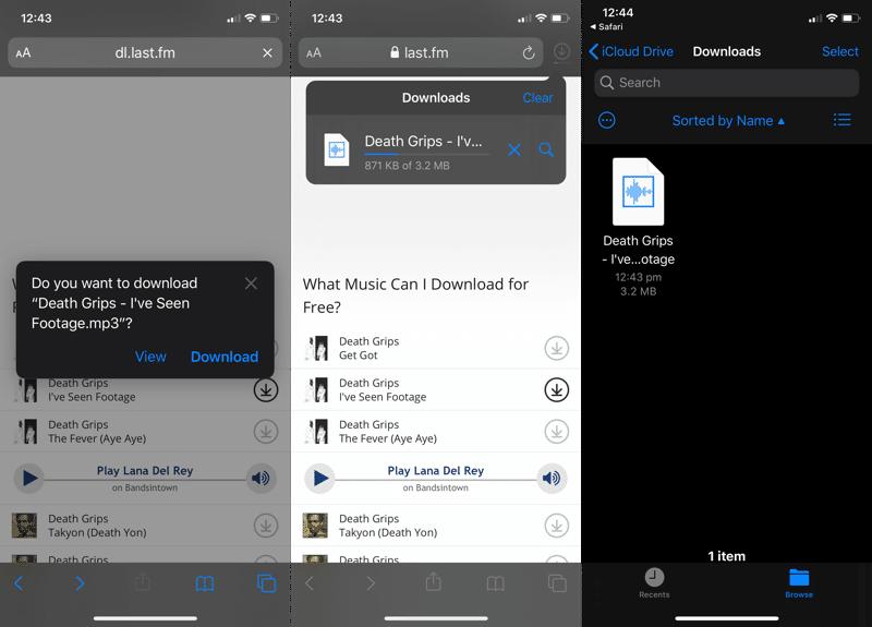 iOS 13 Safari İndirme Yöneticisi