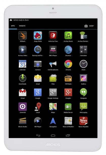 Archos 79 Xenon Tablet Ön Uygulama Çekmecesi