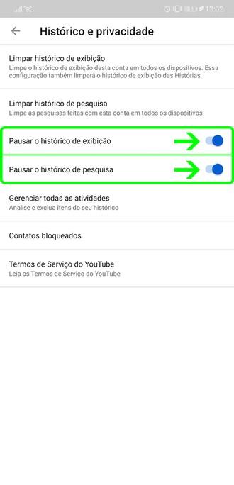 Öğretiler: Görüşlerin ve aramaların tarihçesinin duraklatılması YouTube 5