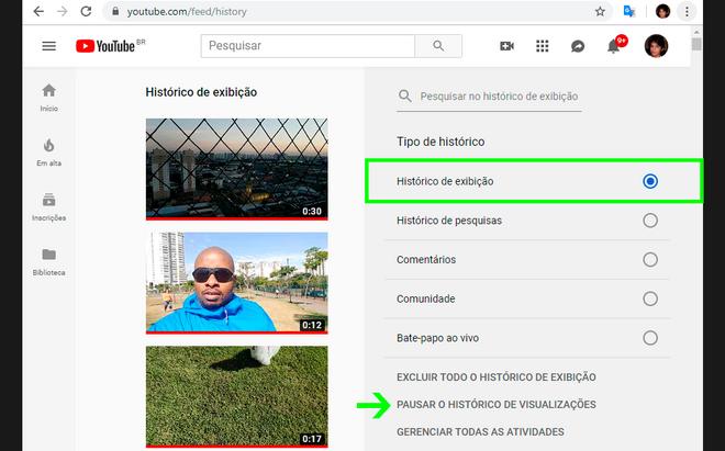 Öğretiler: Görüşlerin ve aramaların tarihçesinin duraklatılması YouTube 8