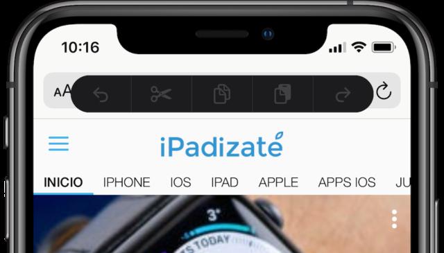 menü kopyala yapıştır iOS 13 beta