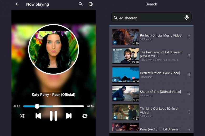 Müzik dinlemek için Android uygulamaları YouTube 2
