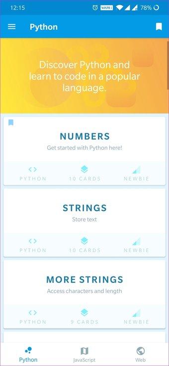 Kodlamayı Öğrenmek İçin Android Uygulamaları 16