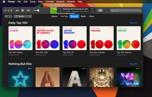 Apple  Müziğin Karanlık Modu Var