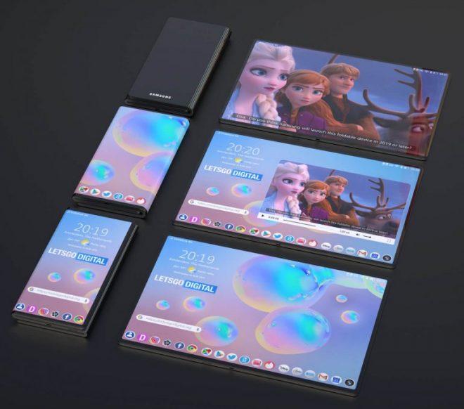Samsung Patentleri Yeni Galaxy Z ile Katlanabilir Telefon Fold dizayn 3