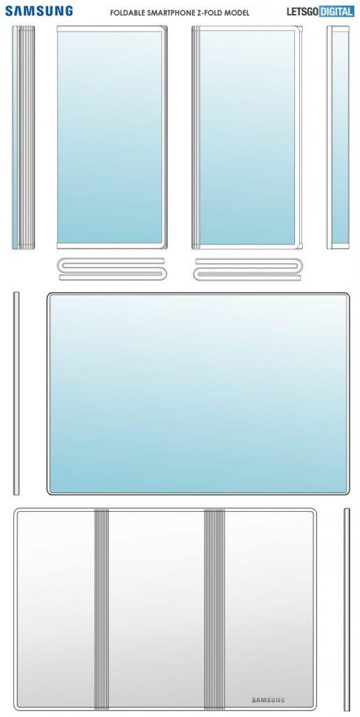 Samsung Patentleri Yeni Galaxy Z ile Katlanabilir Telefon Fold dizayn 4