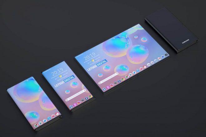 Samsung Patentleri Yeni Galaxy Z ile Katlanabilir Telefon Fold dizayn 5