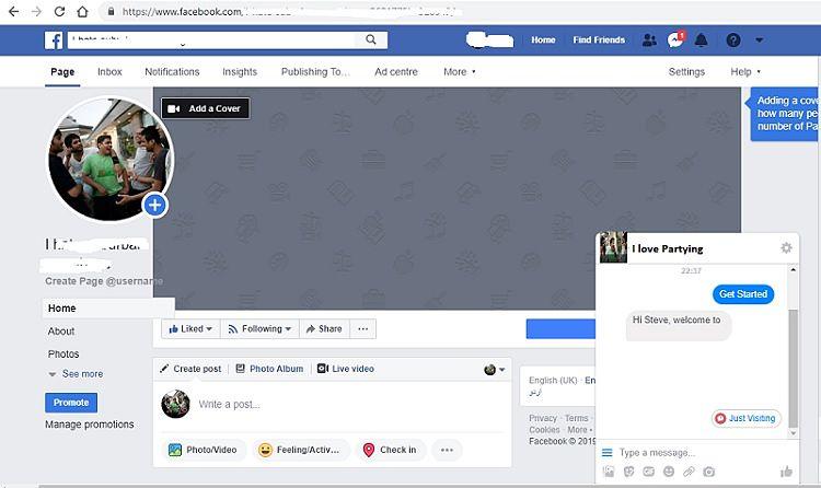 Botsify on chatbot Facebook sayfa