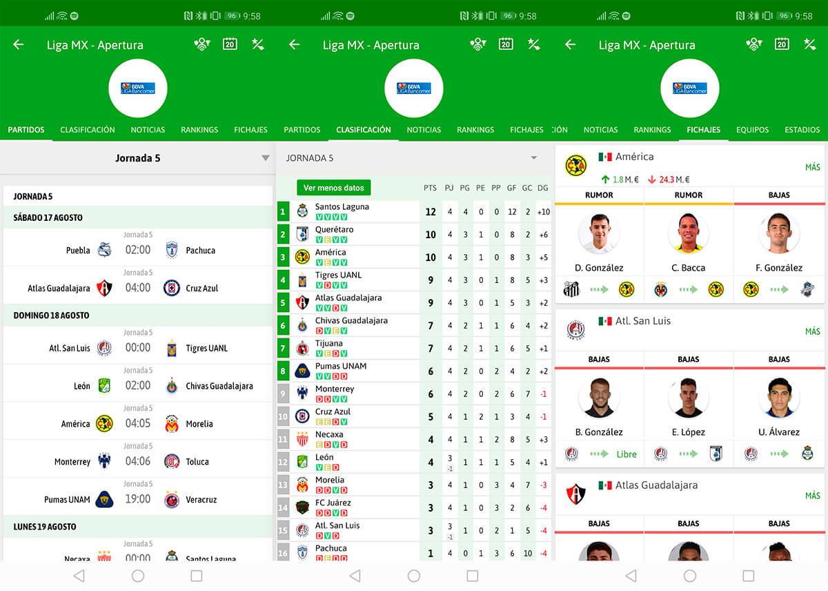 La Liga takip etmek için en iyi uygulamalar: sonuçlar, sıralama ... 1