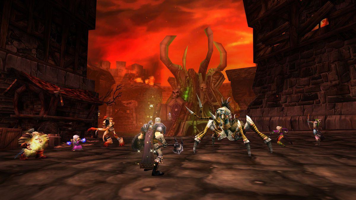 World of Warcraft - oyuncular Classic World of Warcraft'taki Stratholme zindanında ilerliyorlar