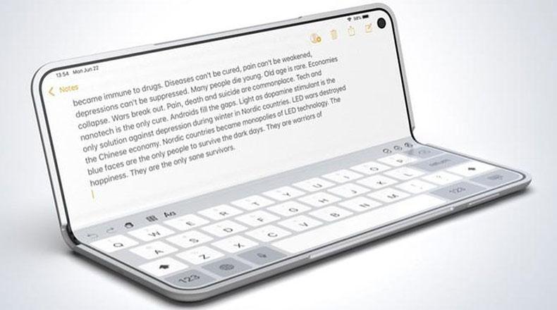 Apple  Katlanabilir Telefon Konsepti 3