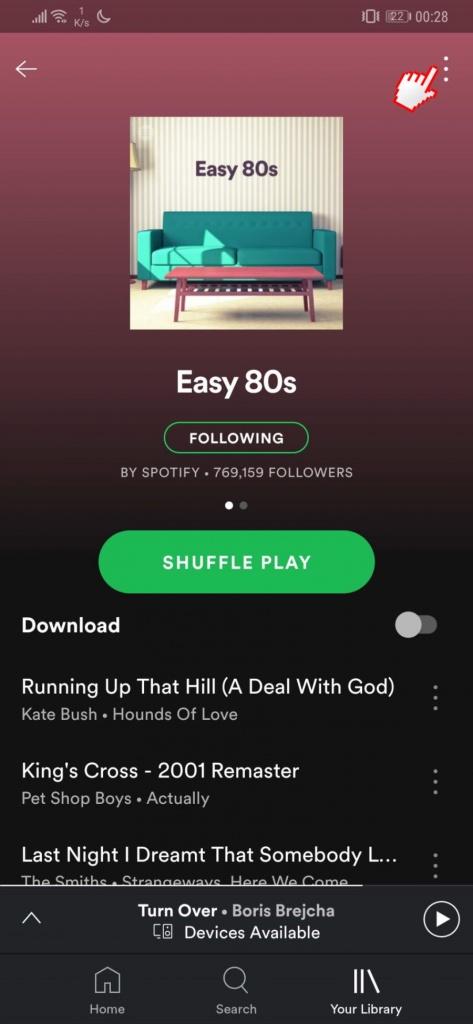 Spotify favori şarkıları kaydet