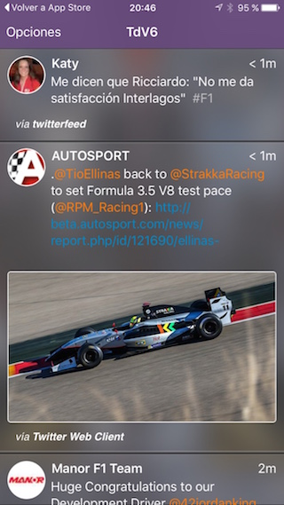 İPhone'unuzda TdV6, F1 ve motor sporu tweet'leri 2