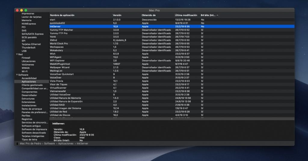 32 bit macOS uygulamaları Catalina