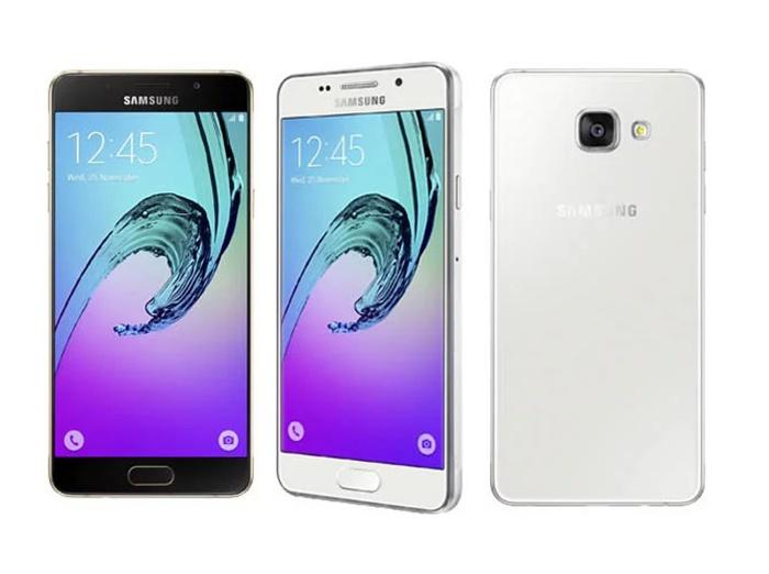 Samsung ön ve arka Galaxy A3 2016