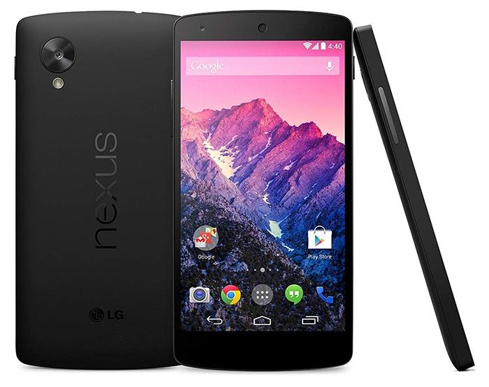 LG Nexus 5'in önü ve arkası