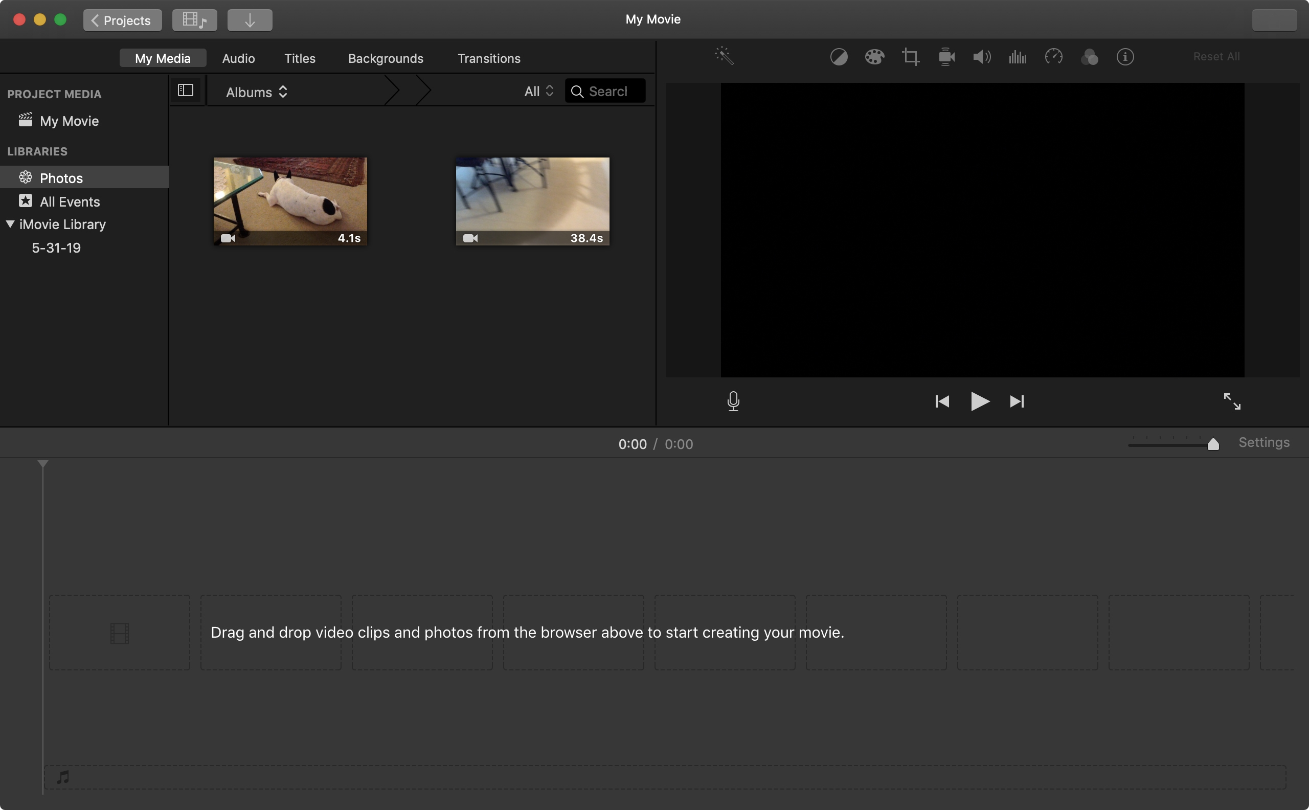 Mac'te iMovie Film Projesi