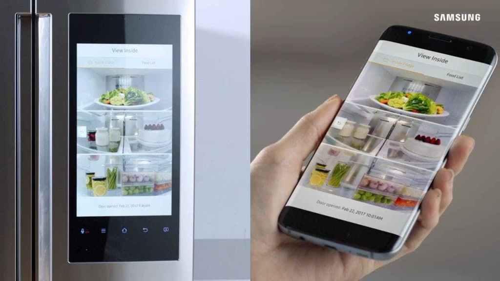 Akıllı telefonunuzu kullanarak, View Inside teknolojisi ile buzdolabınızın içinde ne olduğunu görebilirsiniz.