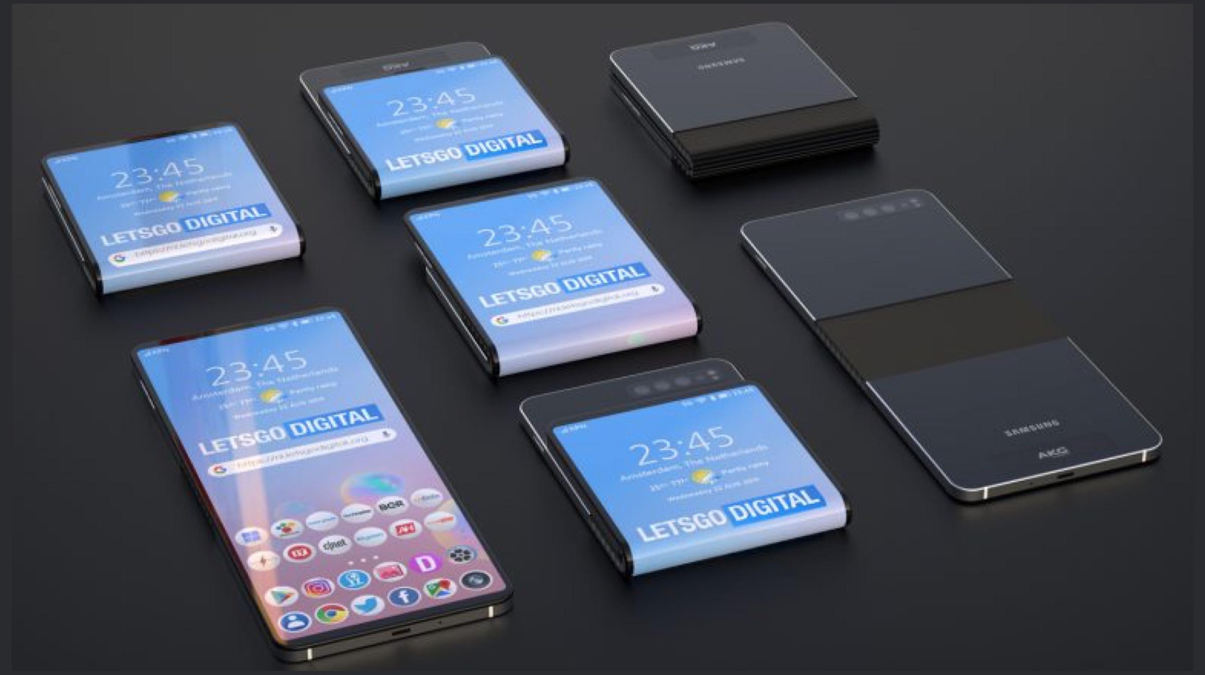 Samsung Olabilecek Bir Akıllı Telefonda Çalışıyor Fold Her iki yol da 2
