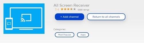 Tüm Ekran Alıcısı Roku