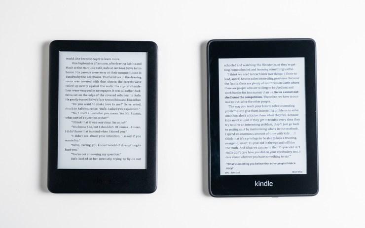 Amazon Kindle  vs Paperwhite Ekranı