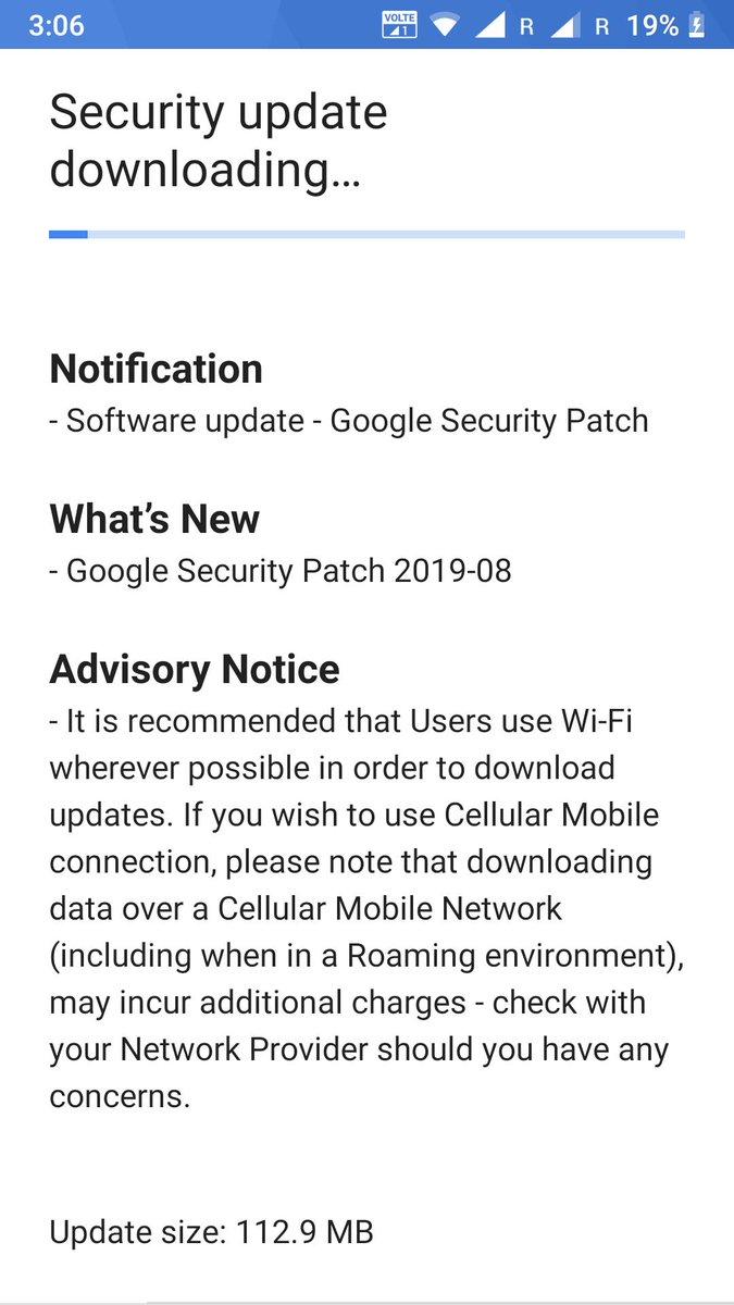 Nokia 6 güvenlik güncellemesi ağustos