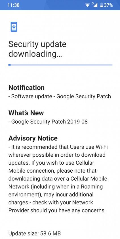 Nokia 4.2 güvenlik güncellemesi ağustos