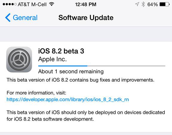 iOS 8.2 Beta 3 geliştiricilere ulaşır, yeniliklerin neler olduğunu keşfedin 2
