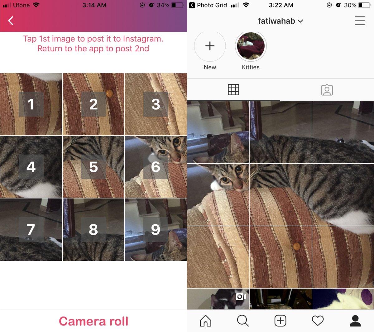 Nasıl oluşturulur Instagram İOS'ta 3 × 3 ızgara yazısı 2