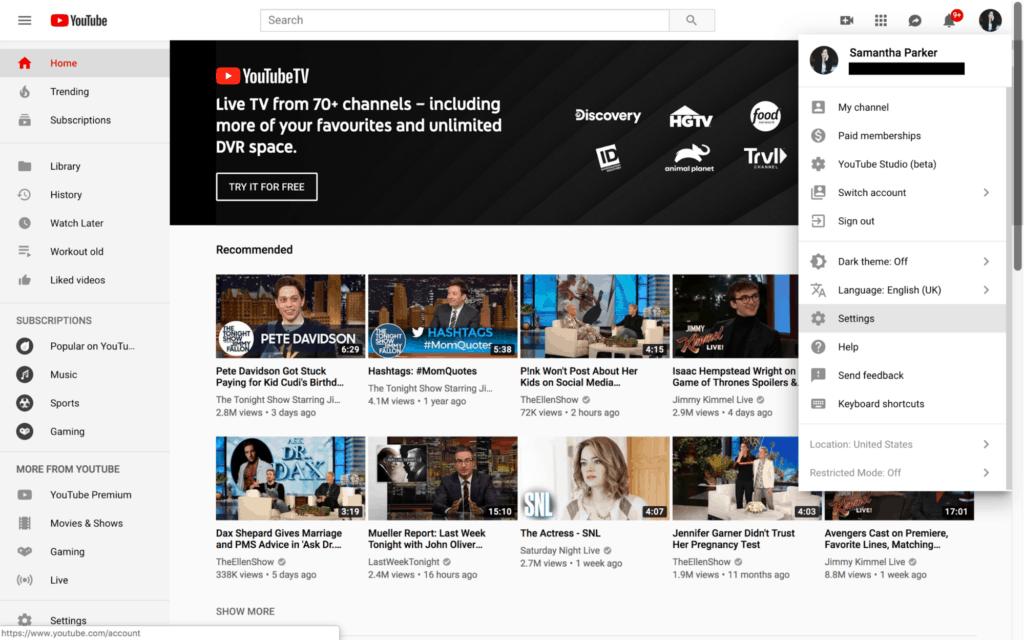 Nasıl Oluşturulur YouTube 2019'da kanal 2
