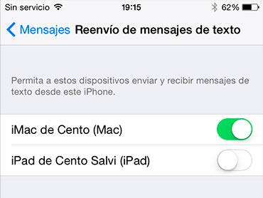 iOS 8.1, iPhone, iPad ve Mac'ten SMS göndermeye ve almaya izin verir 2