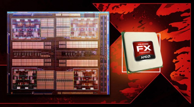 AMD FX swoosh ve Bulldozer die
