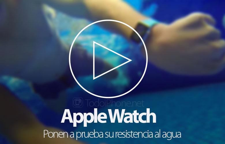 Apple Watch: Su direncini test ediyorlar 1