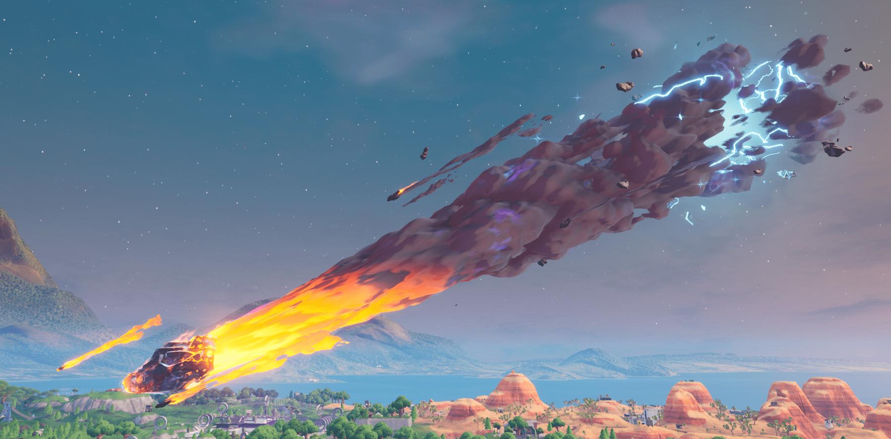 Fortnite    Sezon X (v10.00) Harita Değişiklikleri - Meteor