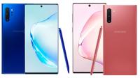Yeni yayınlanan renk çeşitleri Galaxy Note  10: mavi ve pembe   (c) Samsung / Resim Montajı: Taşınabilir