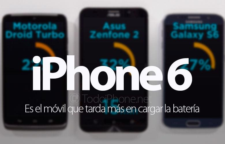 İPhone 6, bataryanın şarj edilmesi daha uzun süren bir telefon 1