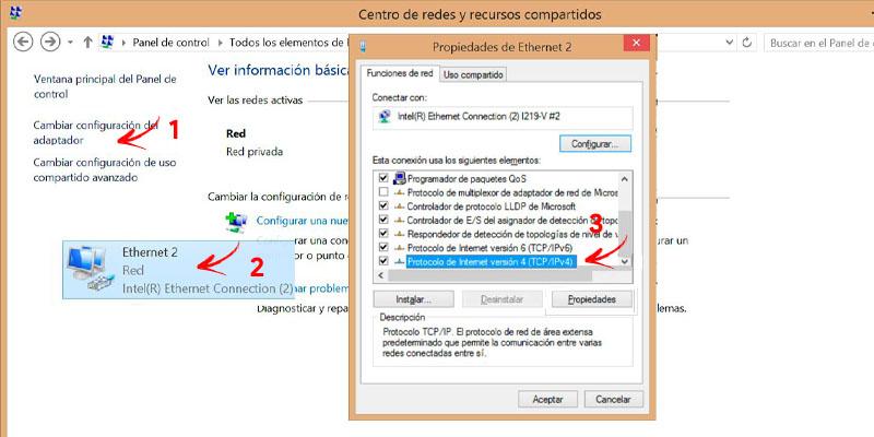 dns değiştir windows 8