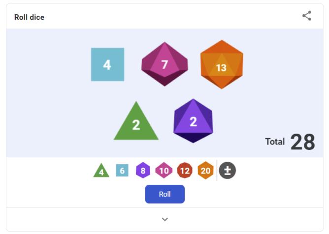 İnisiyatif için giriş yapın: Google Arama, masa üstü RPG keyfiniz için daha fazla zar türü simüle eder 2
