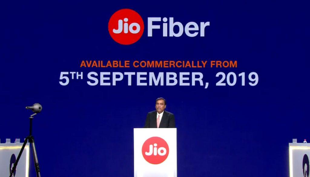 Jio Fiber 5 Eylül'de Başlıyor; Ayda ₹ 700'den başlayan fiyatlarla 1