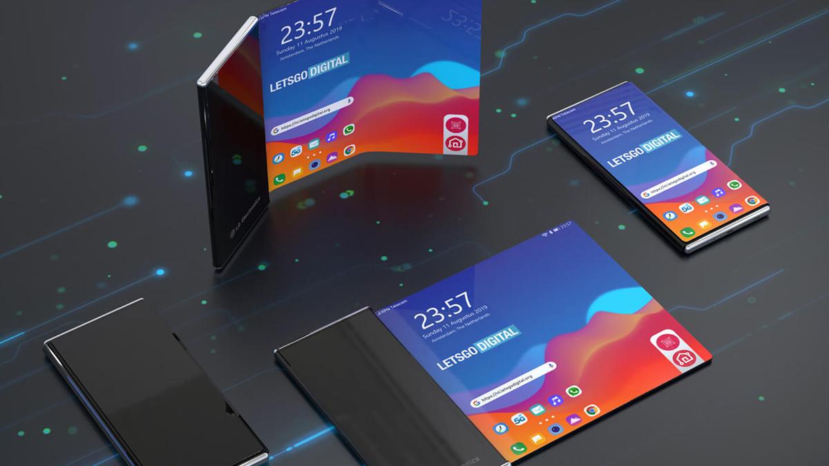 LG roll-up akıllı telefon ekranı iki yönde bükülebilir 1
