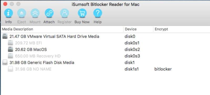 Mac Review için iSumsoft BitLocker Okuyucu 1