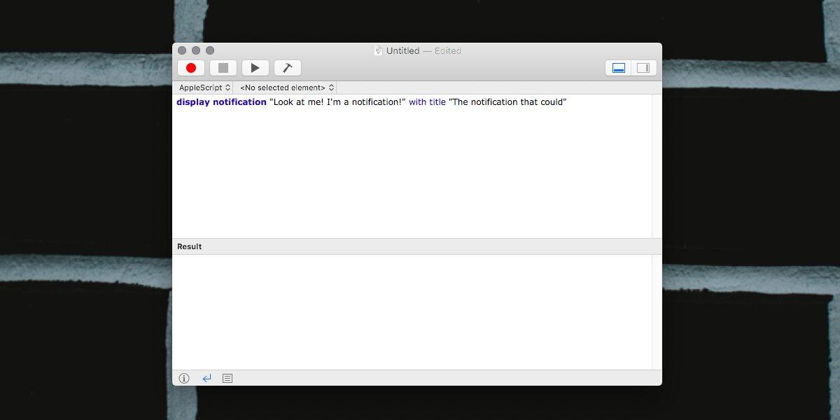 MacOS'ta bir komut dosyasıyla bir bildirim nasıl gösterilir 1