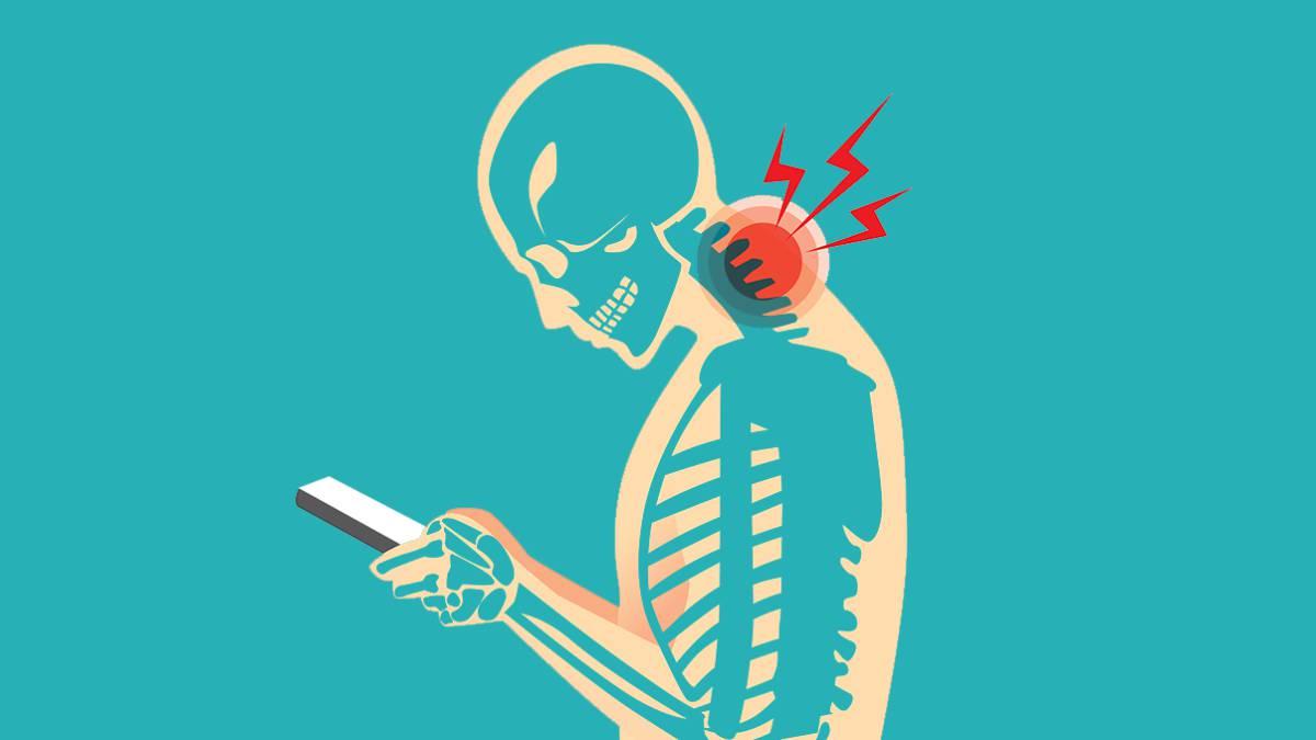 Metin Boyun, cep telefonunu kullanma boyun yaralanmalarını önlemek için bir uygulama 1
