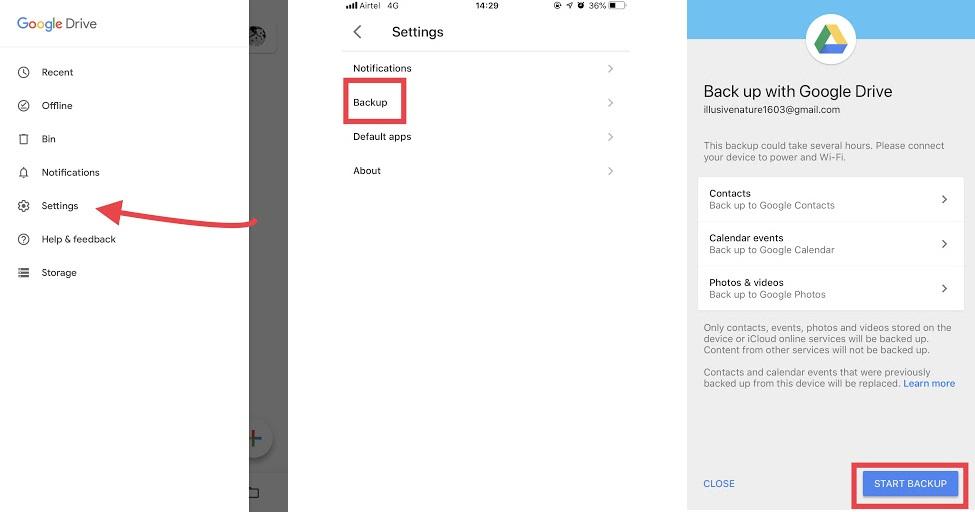 Google Drive Yedekleme