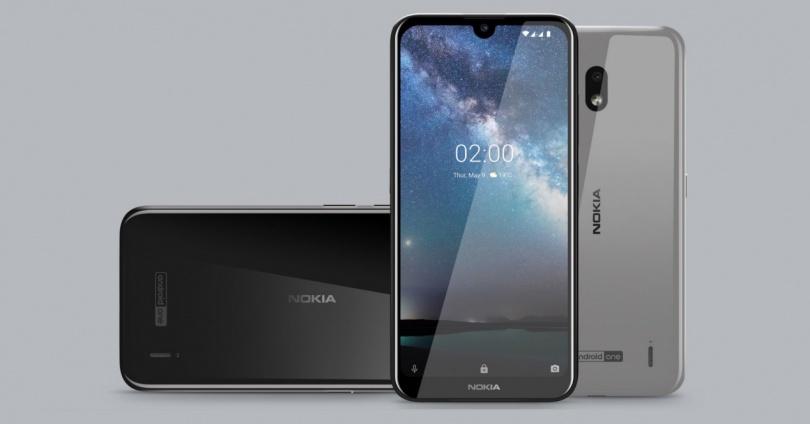 Nokia 2.2 ön arka ve yatarak