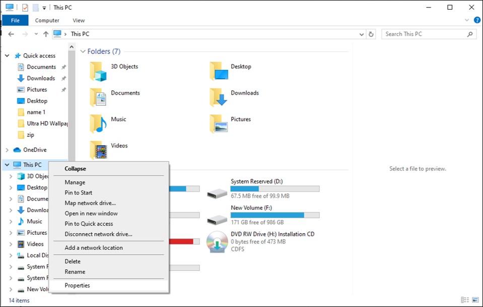 seçmek Windows Özellikleri