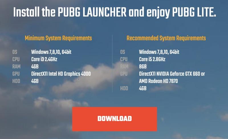 PC için PUBG Lite'ı ücretsiz indirin (Sınırlı Ülkede Mevcut) 2