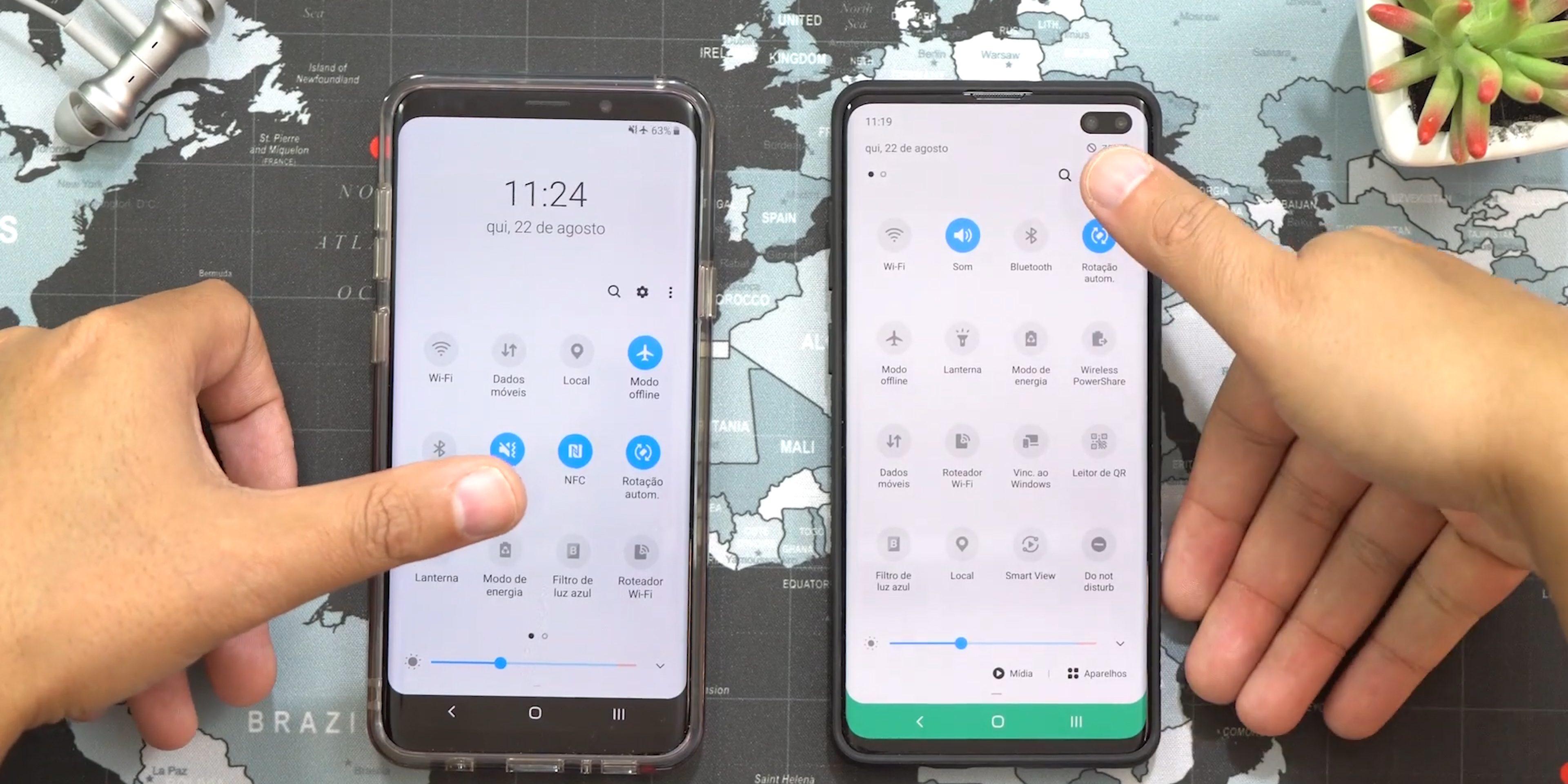 Bir UI 2.0 Android 10 hızlı ayar geçişi